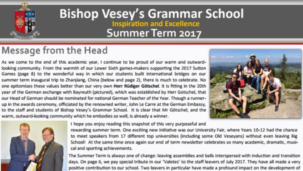 Summer Newsletter 2017