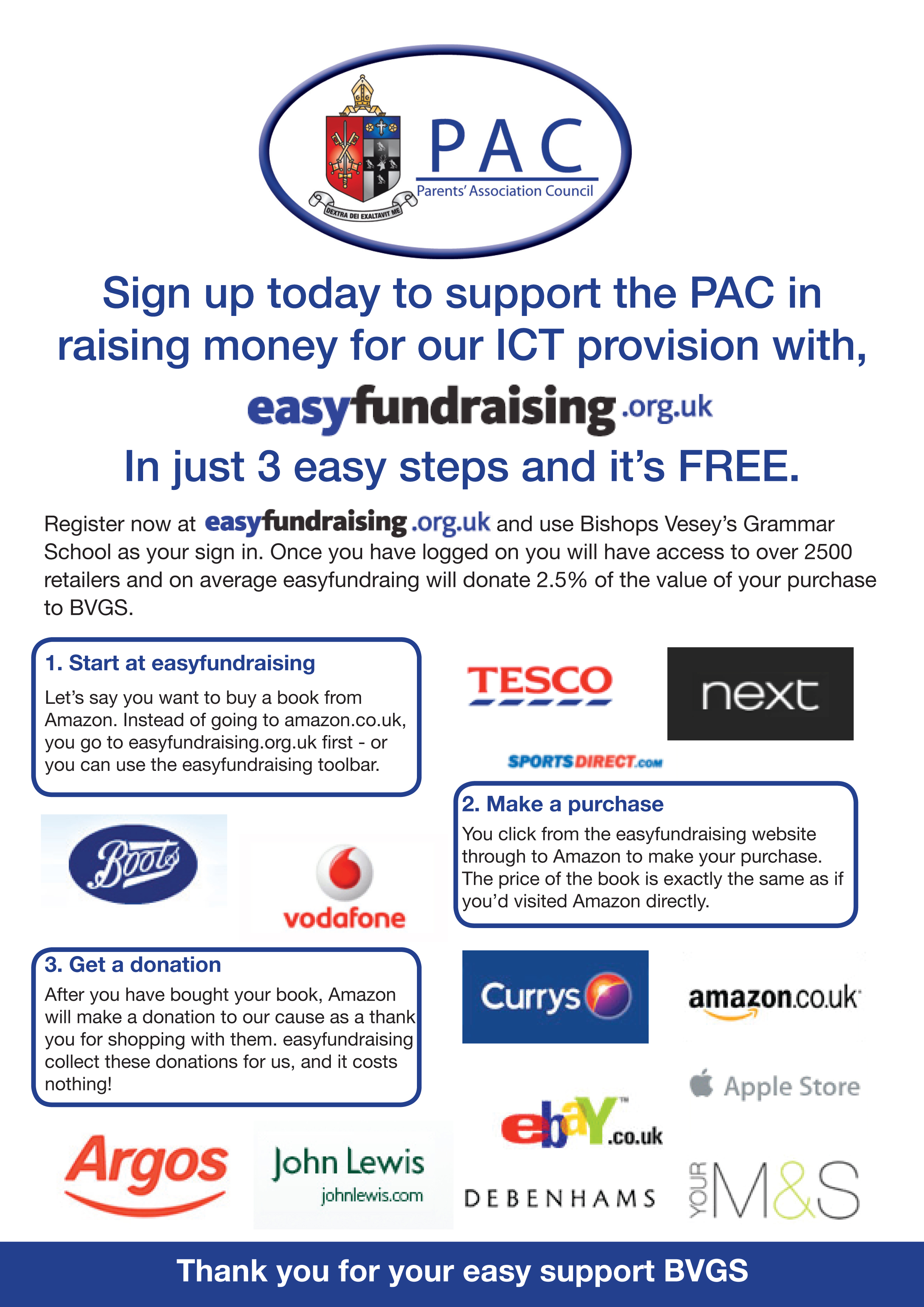 PAC Easy fundraising Dec 2013 Large